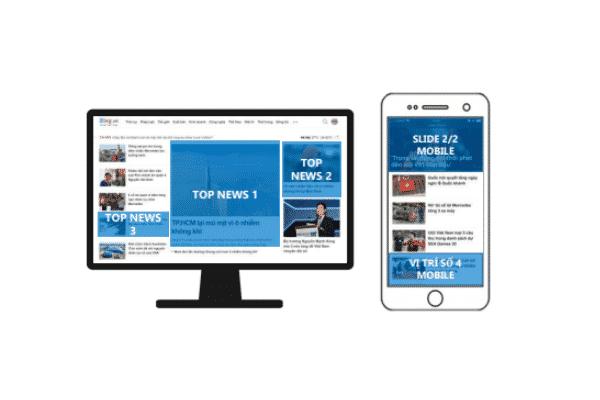 Chi phí quảng cáo trên Zing vị trí Home Page Top News