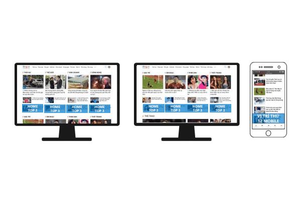 Chi phí quảng cáo trên Zing vị trí Home Page Top 3